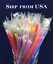 "250 Plastic Party Bar Drinking Straws INDIVIDUALLY WRAPPED 8 14"" x 14"" Colors"