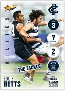 2020 AFL SELECT HILITES ROUND 12 CARLTON BLUES JACK NEWNES CARD SH12 #196