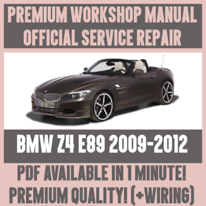 workshop manual service repair guide for bmw z4 e89 2009 2012 rh ebay com bmw repair guidelines bmw repair guidelines
