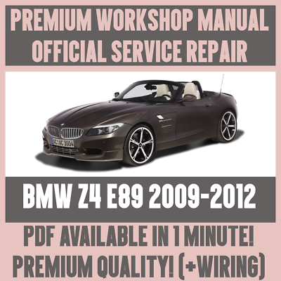 Workshop Manual Service Repair Guide For Bmw Z4 E89 2009 2012 Wiring Diagram Ebay