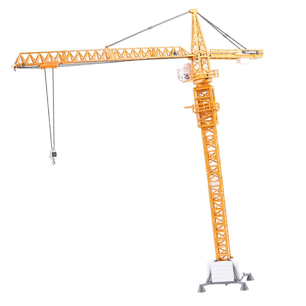 1 50 Heavy-duty Tower Crane Alloy Construction Site Vehicle Diecast Model O