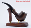 """NEW Wooden Rack Ash wood Stand Holder /""""Sail #2/"""" for 1 tobacco smoking Pipe"""