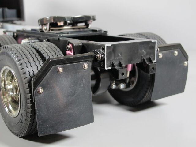 Aluminum Rear L/&R Angle Mud Flap Guard Hanger Tamiya RC 1//14 King Grand Hauler