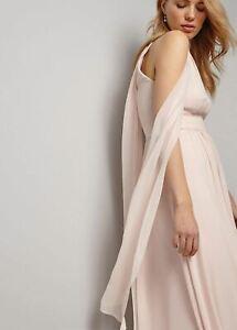 Phase-Eight-Roxi-Maxi-Bridesmaid-Sleeveless-Dress-Pale-Lipstick-Size-UK12-RRP140
