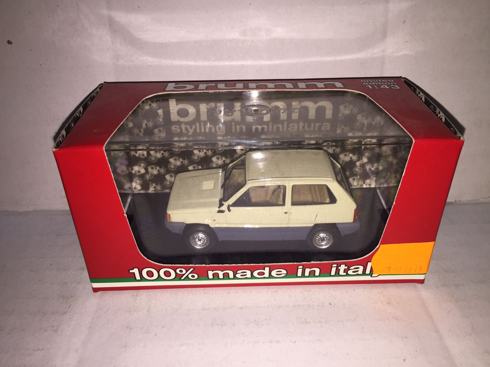 Brumm 1 43 fiat panda 30 1a Series 1980 Ivory Senegal r386-03 MIB Made in