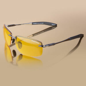 72a2d71d7b88 Details about Men s Night Driving Polarized Sunglasses Outdoor Fishing  Sport Eyewear Yellow