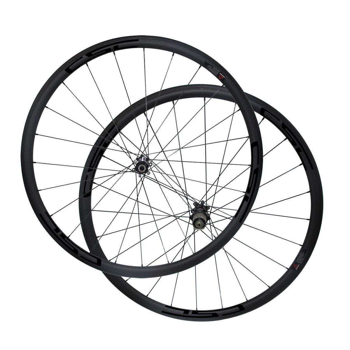 Straight Pull 700C Cyclocross Disc Wheelset Clincher Tubular Bike Wheels  6 Bolt