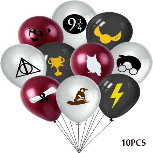 "10PC 12/"" Harry Potter Black Grey Latex Balloons Happy Birthday Party Decoration"