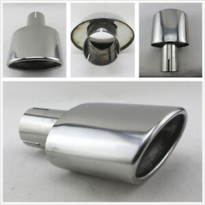 High-Quality-Stainless-Steel-Car-Exhaust-End-Tip-Pipe-Oval-Pipe-Car-Styling-New