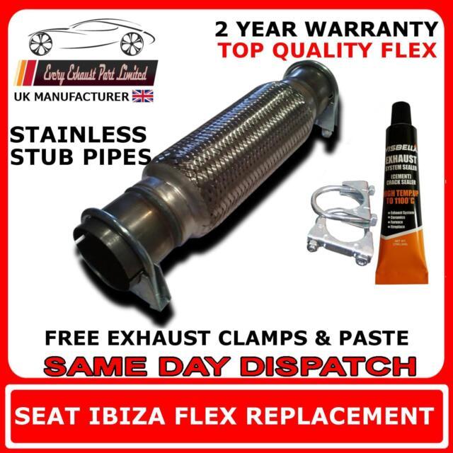 Seat Ibiza 1.4 16v 2002-2008 Auspuff Reparatur Flexi Flex Ersatz für Kat Rohr