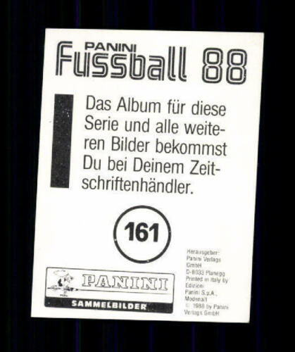 Helmut Hermann Karlruher SC Panini Sammelbild 1988 Original Signiert A 207418