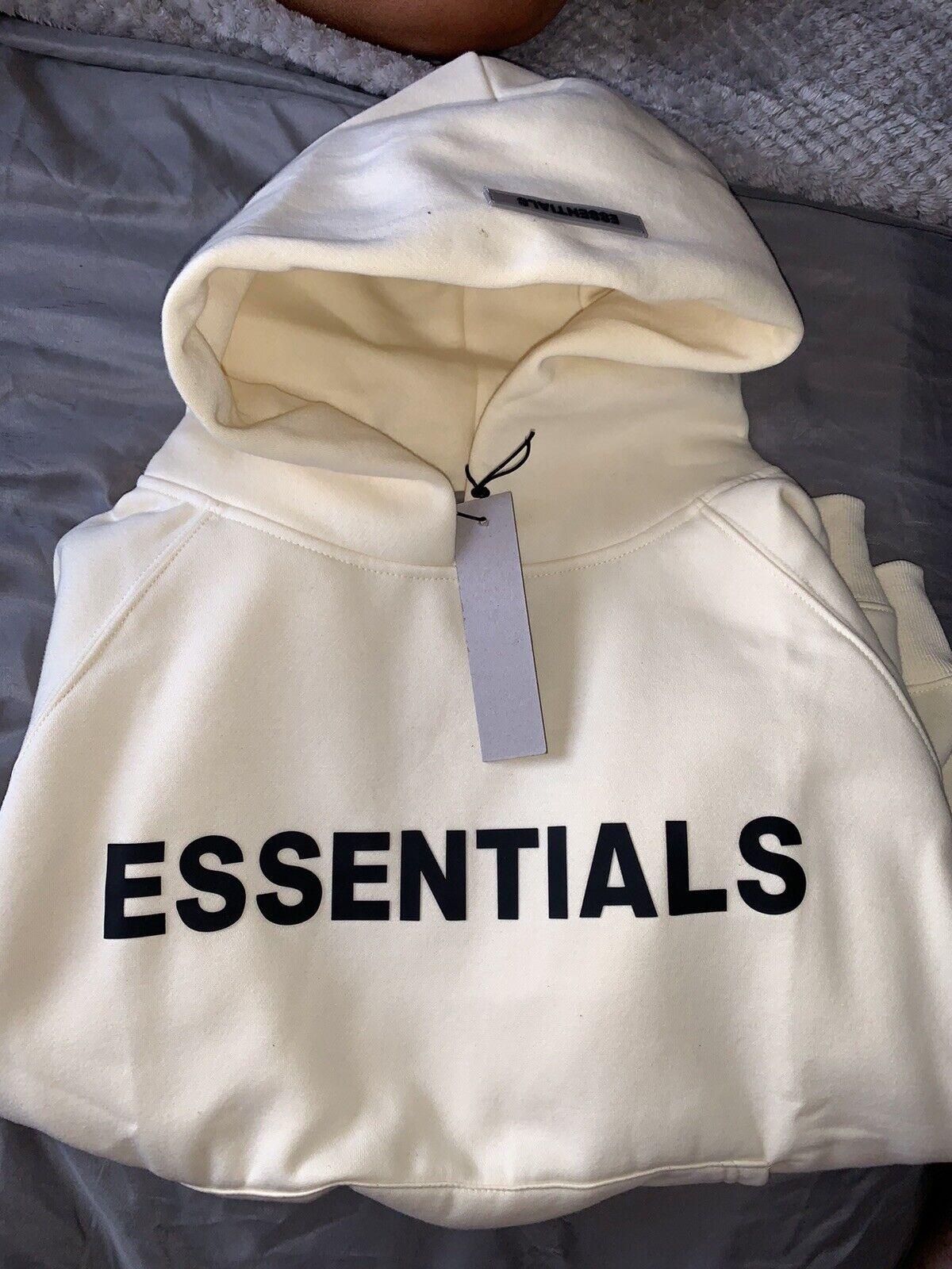 Brand New Essentials FOG Cream Hoodie XL