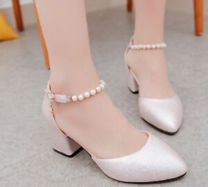 Women-039-s-Shoes-Pointed-Toe-Pumps-Dress-Shoes-Ladies-Wedding-Party-High-Heels-Boat