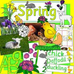 Spring Topic Pack On Cd Teaching Resource Seasons Eyfs Ks1