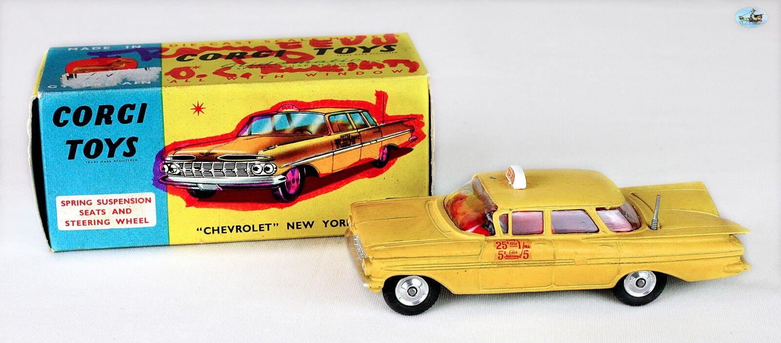 Awesome Corji Toys 1959 Chevrolet New York Taxi Gelb Cab Toy Car