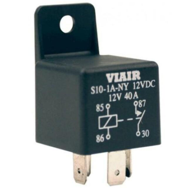 Viair 93940 40 Amp Relay 12v With Molded Mounting Tab 40a