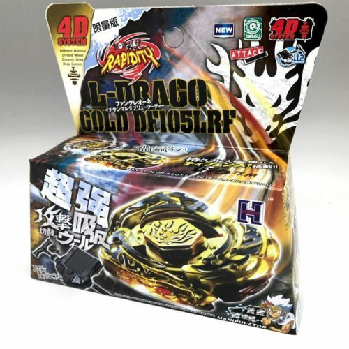 L Drago Gold Beyblade 4d Top Metal Fusion Fight Master Launcher Ebay