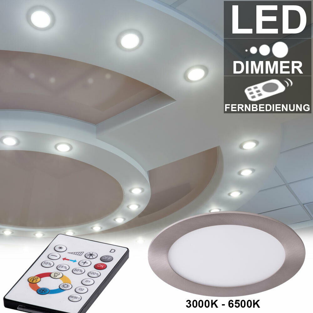 RGB LED Decken Leuchte dimmbar 3D Effekt Glas Strahler Flur Lampe FERNBEDIENUNG