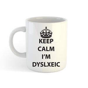 Keep-Calm-I-039-m-dislexico-313ml-300ml-estampado-Taza-Cafe-Taza-de-Te