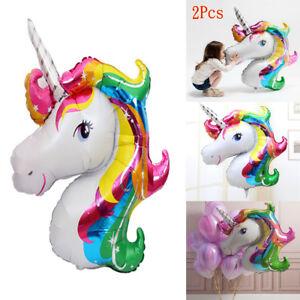 2Pcs-Set-Rainbow-Unicorn-Foil-Helium-Balloon-Birthday-Party-Children-Decor-DIY