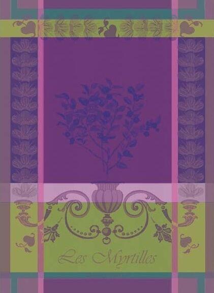GARNIER THIEBAUT, LES MYRTILLES (BLUEBERRIES), FRENCH KITCHEN / TEA TOWEL, NEW