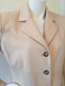Coat Cream Us 8 Virgin Angora Silk Blazer Wool London Burberrys Blend Jacket Pzxwv46E