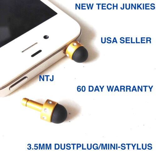MINI-STYLUS DUST PLUG 3.5mm headphone jack for iPhone 4s 5c 6 plus Galaxy s6 s7