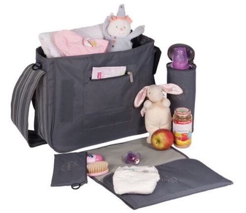 LASSIG Messenger Baby Changing Bag Multiple Pockets with Accesorries