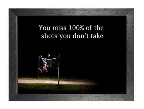 18 Volleyball Inspiration Motivation Quote Poster Sport Passion Photo Picture