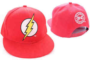 135c1e6547c Image is loading AWESOME-DC-COMICS-THE-FLASH-SYMBOL-RED-SNAPBACK-