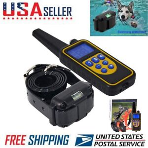 Details about Electric Dog Training Collar Remote Shock Waterproof  Rechargeable LCD 1000m US