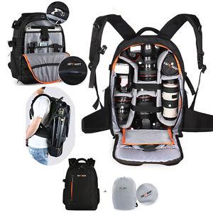 Kamerarucksack-Fotorucksack-K-amp-F-Concept-Rucksack-mit-Stativhalterung-Regenschutz
