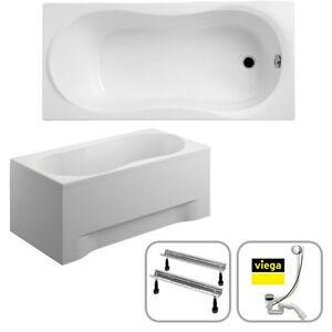 badewanne rechteck sch rze siphon viega 120x75 140 150 160 170x70 grazia a ebay. Black Bedroom Furniture Sets. Home Design Ideas