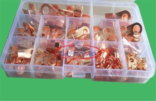 100pcs 5//10//20//30//40//50//60//100A Open Cable Wire Terminal Connector Copper Lugs