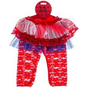 Red-White-Blue-4th-of-July-Lace-Leggings-Tutu-Baby-Girl-Size-6-12-Months-NWT