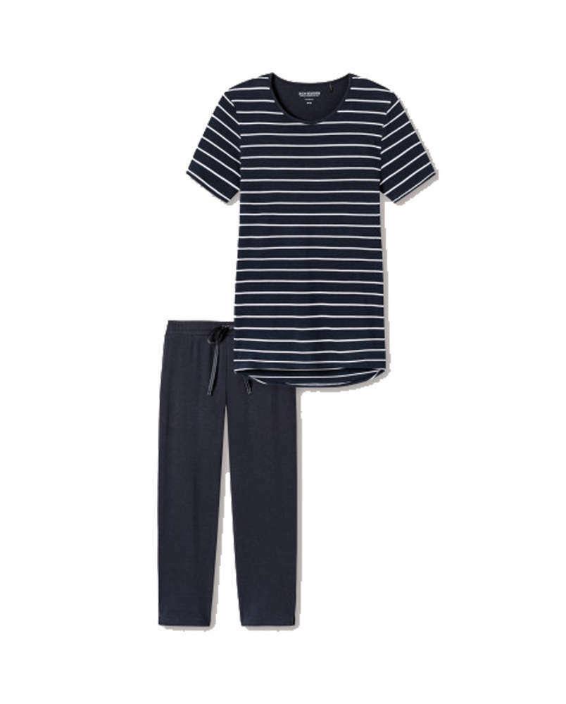 Efficace Schiesser Femme Pyjama Un BoîTier En Plastique Est Compartimenté Pour Un Stockage En Toute SéCurité