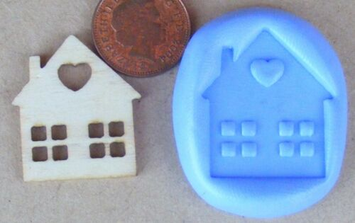Reusable House Silicone Mould Sugarcraft Jewellery Card Topper Food Safe Tumdee