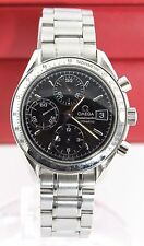 OMEGA MENS SPEEDMASTER 3513.50 AUTOMATIC CHRONOGRAPH DATE BLACK STEEL WATCH