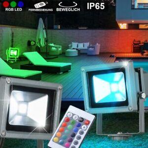 RGB LED Außenleuchte Terrassen Deckenlampe Fernbedienung Gartenstrahler dimmbar