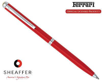 Sheaffer Ferrari 500 Rosso Corsa  Chrome Ballpoint Pen New In Box FE2950451