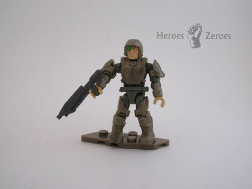 Halo Mega Construx Clash on the Ring UNSC Bronze Brown Marine with Assault Rifle