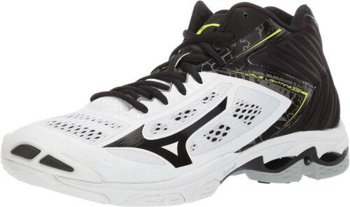 Mizuno Men/'s Wave Lightning Z5 Athletic Shoes Mid model White Black