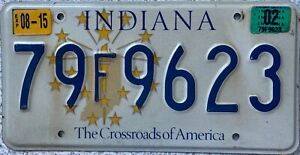 GENUINE-Indiana-Crossroads-of-America-USA-License-Licence-Number-Plate-79F9623