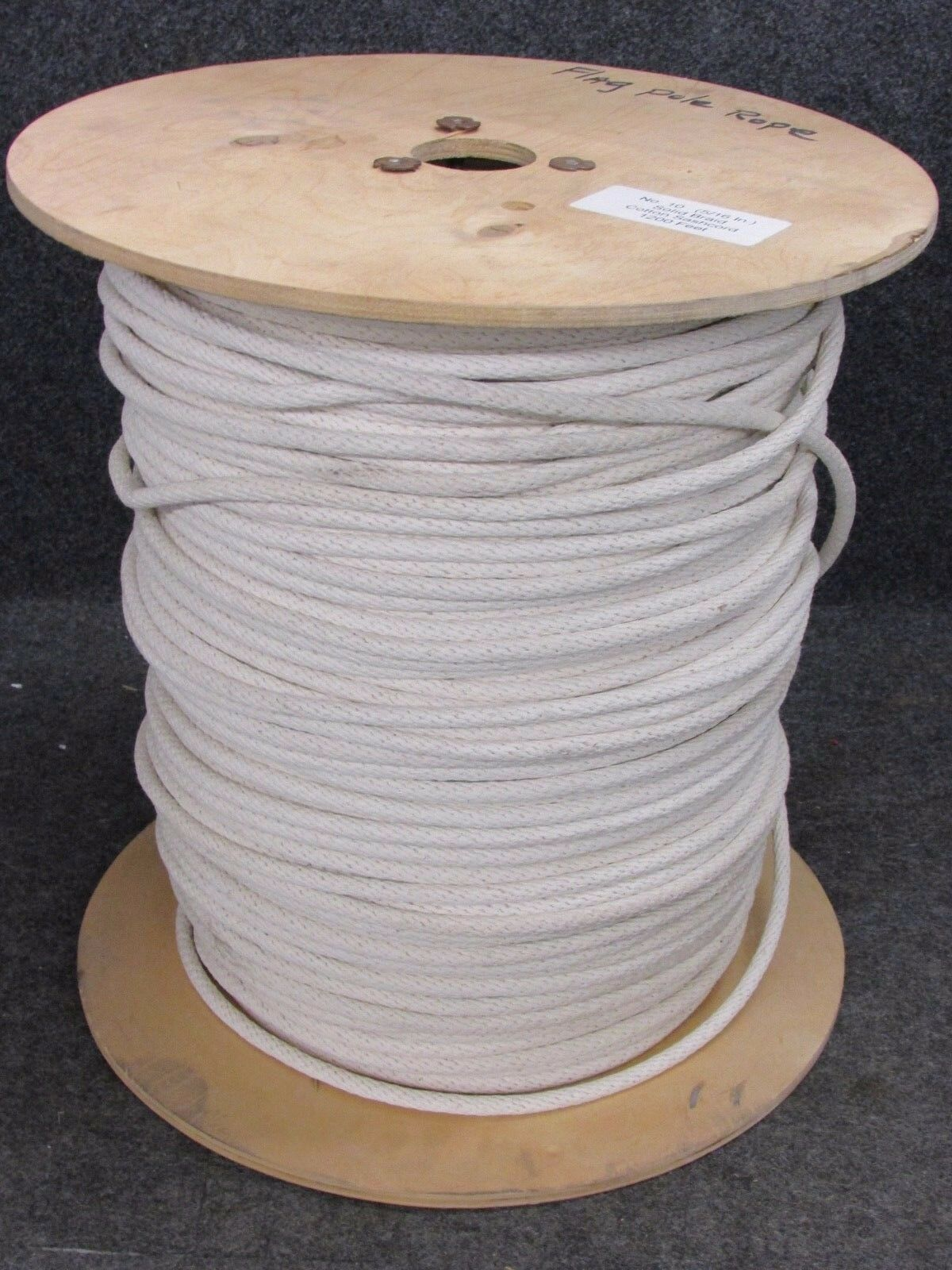No. 10 SOLID BRAID COTTON SASH CORD ROPE, 5  16  x 1000' (APPROXIMATE LENGTH)  most preferential
