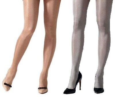 Ladies//Womens Rose Gold Gipsy 40 Denier Metallic Tights in Medium or XL