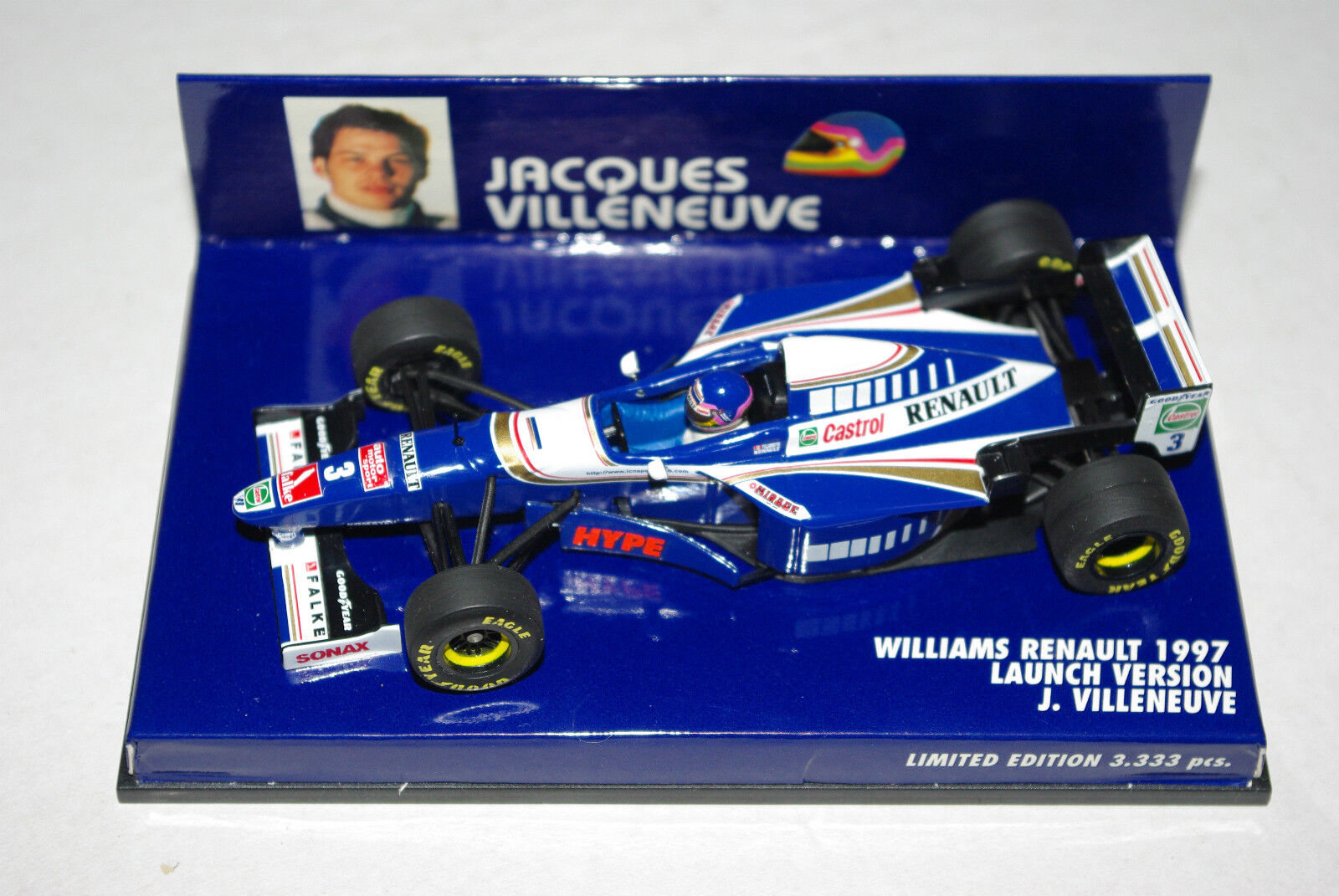 Noël Nouvel An, l'œuf est est est courtois Minichamps F1 1/43 WILLIAMS RENAULT Launch Version 1997 Villeneuve | De Grandes Variétés  6262b3