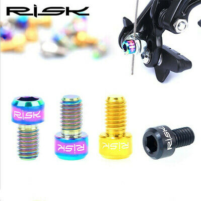 1pair RISK MTB Brake Lever Bolts Ti Titanium Alloy M5x25mm Screws Cycling Parts