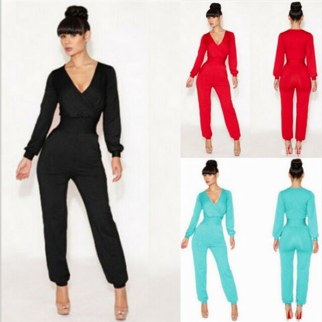 Fashion New Women's Casual Long Sleeve Jumpsuit Rompers Playsuit Long Pants