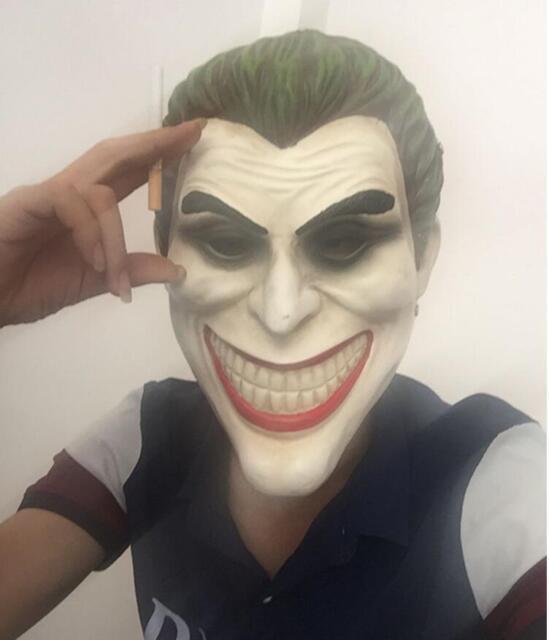Joker Batman Dark Knight mask Masquerade realistic porp Halloween clown Costume