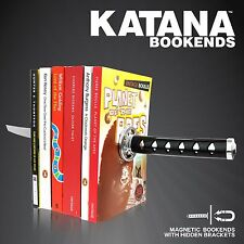 Katana Bookends- Magnetic Ninja Samurai Sword Novelty Bookends